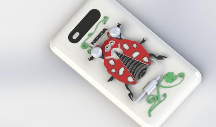 Cover Lumia 820 con auricolari