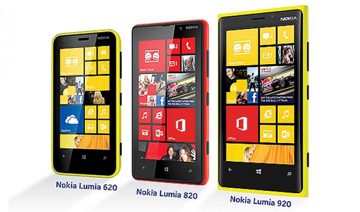 Nokia Lumia 920, 820 e 620