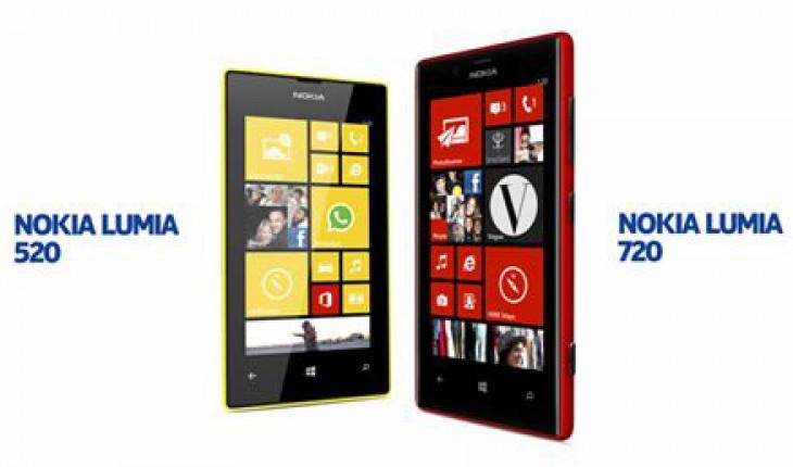 Nokia Lumia 520 e 720