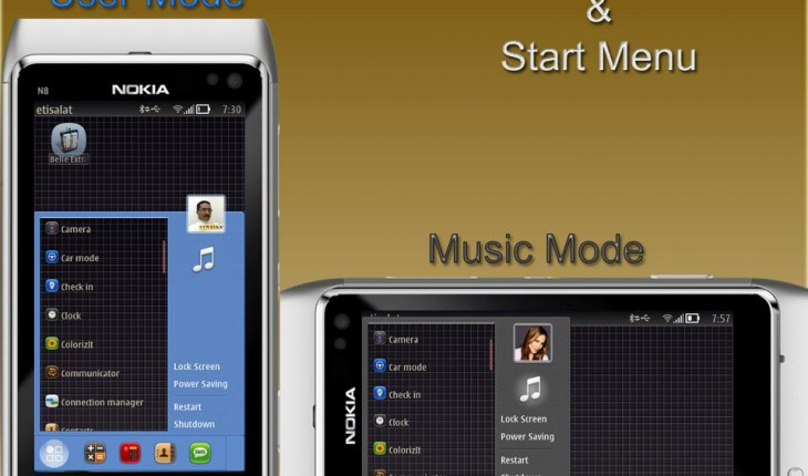 Belle Extra Taskbars & Start menu