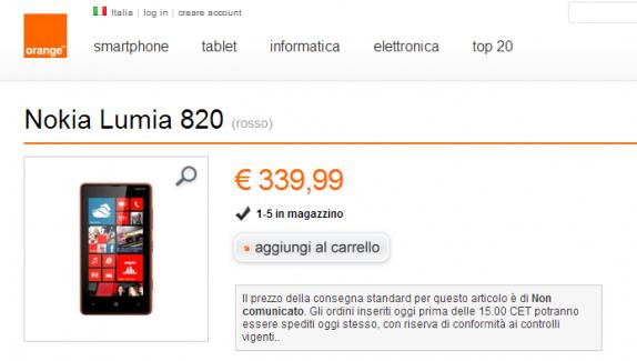 Lumia 820 orange