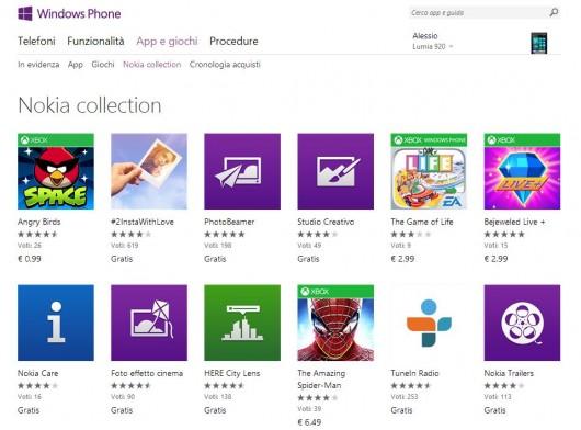 Nokia Collection su Web