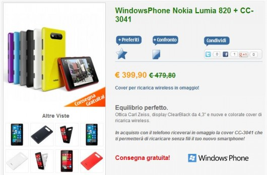 Nokia Lumia 820 su nstore.it