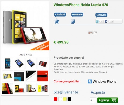 Nokia Lumia 920 su NStore
