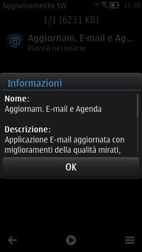 Update Email e Agenda