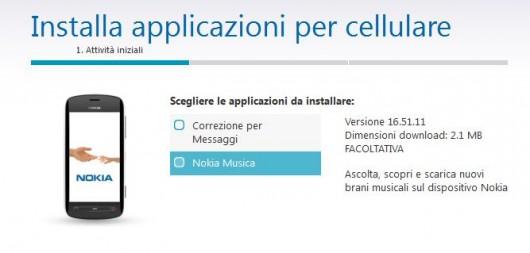 """updates """"Correzione per Messaggi"""" e """"Nokia Musica"""""""