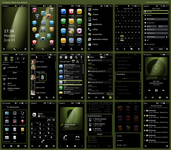 X-Noire Olive by AttisX