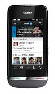 Linkedin su Nokia Asha
