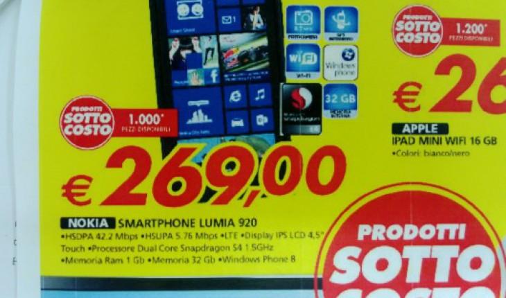 Nokia Lumia 920 in offerta Auchan