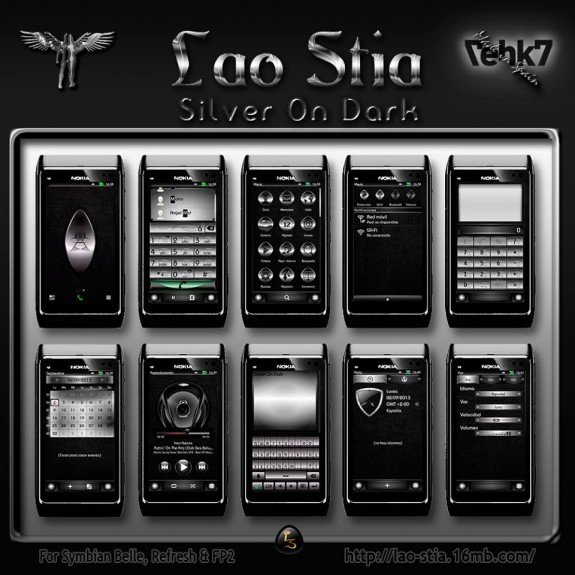 Silver On Dark by Lao Stia