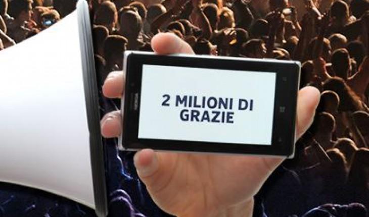 2 milioni di likes