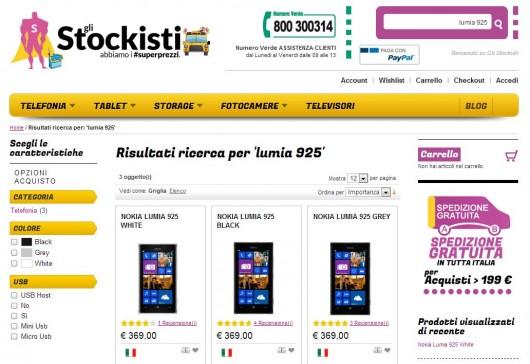 Nokia Lumia 925 a soli 369 Euro
