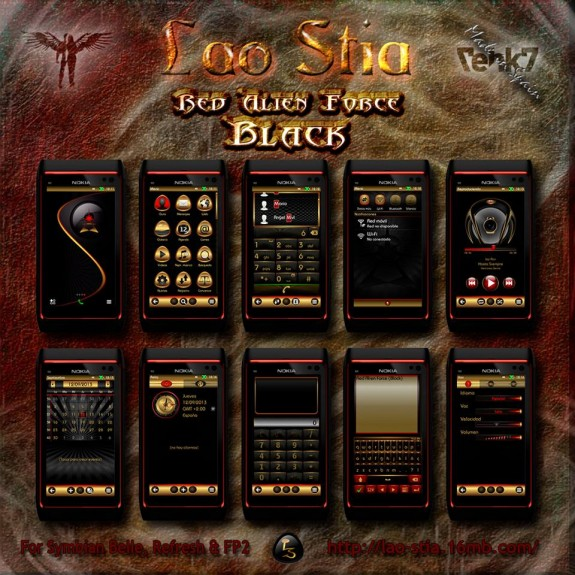 Red Alien Force Black By Lao Stia