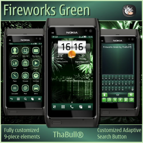Fireworks Green by ThaBull