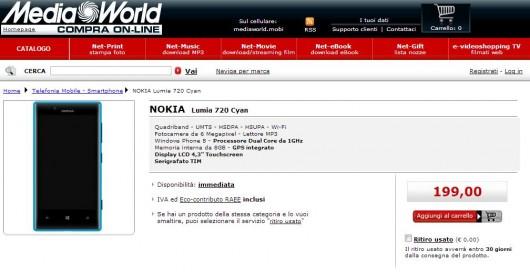 Nokia Lumia 720 TIM