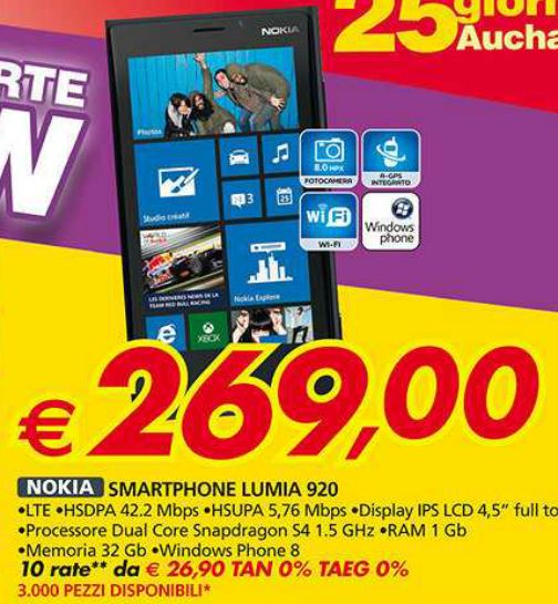Nokia Lumia 920 in offerta
