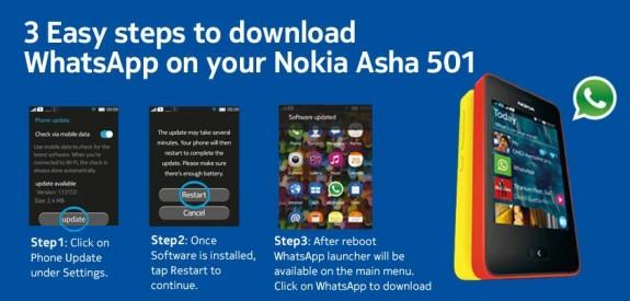 WhatsApp Nokia Asha 510