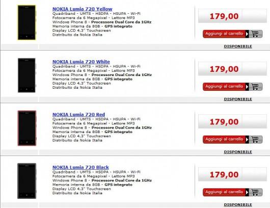 Nokia Lumia 720 in offerta da MediaWorld