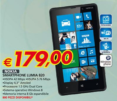 Nokia Lumia 820 in offerta