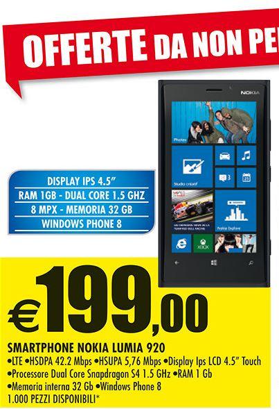Nokia Lumia 920 in offerta da Auchan