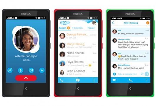 Nokia X Skype