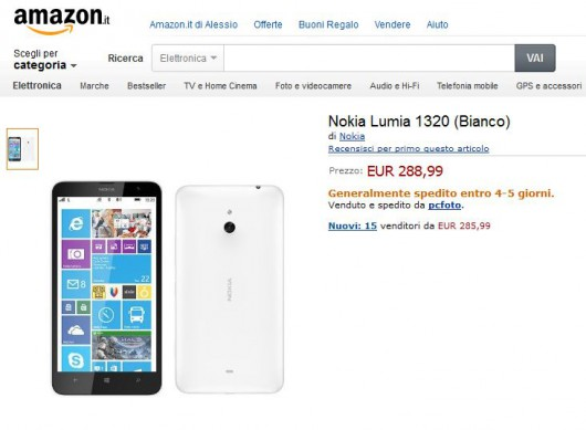 NokiaLumia1320 su Amazon