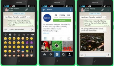 WhatsApp Instagram su Nokia X
