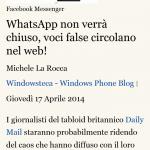 Modalità lettura di Internet Explorer 11