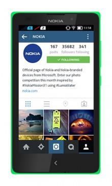 Instagram per Nokia X