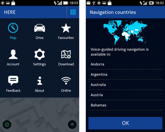 Here Maps per device Nokia X