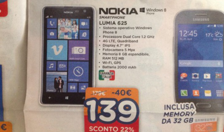 Nokia Lumia 625 in offerta