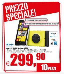 Nokia Lumia 1020 a soli 299 Euro da Iper