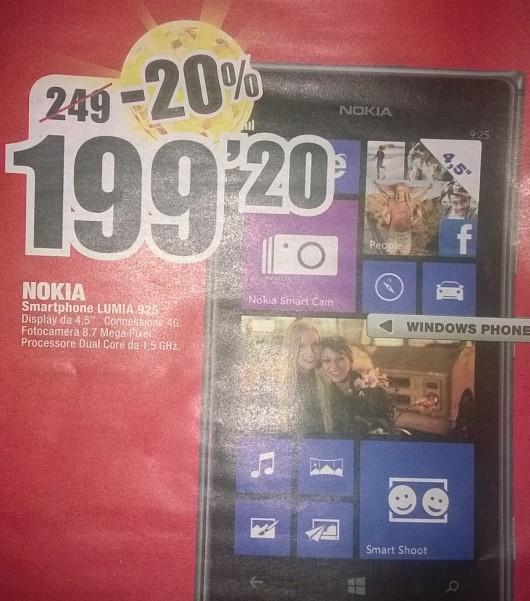 Nokia Lumia 925 a 199 Euro