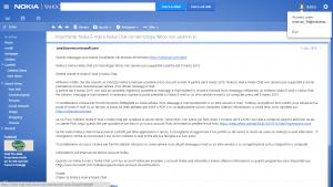 Chiusura Nokia E-mail e Nokia Chat