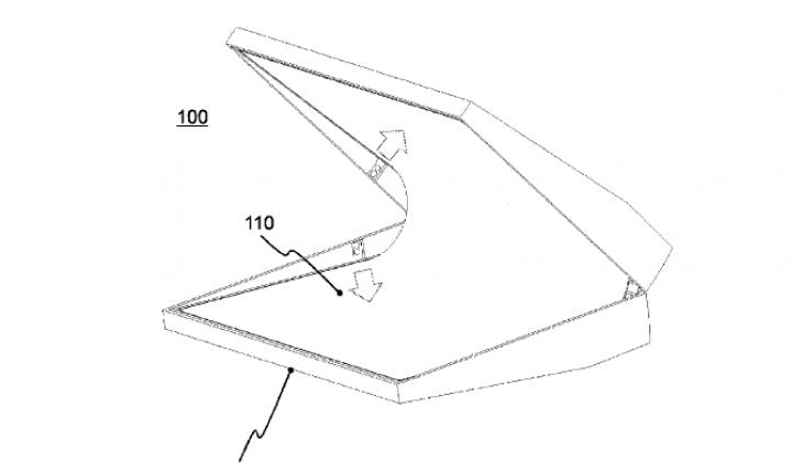 dispositivo touchscreen con display flessibile