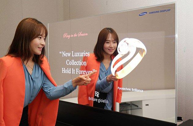 Samsung - Schermo OLED trasparente