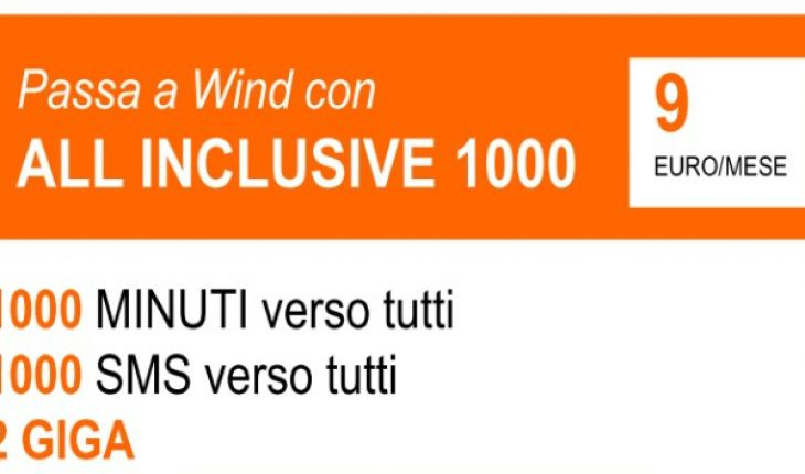 Orange Days: passa a Wind con All Inclusive 1000