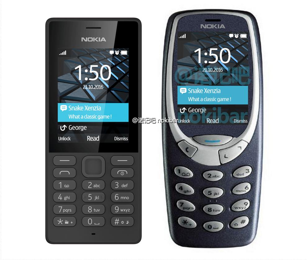 Nokia 150 e Nokai 3310