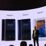 Nokia 3, Nokia 5 e Nokia 6