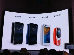 Nokia 3, Nokia 5, Nokia 6 e Nokia 3310