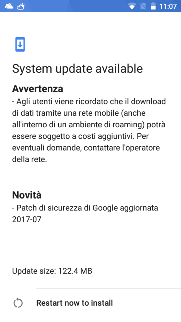 Security Update luglio 2017