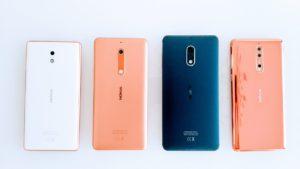 Nokia 3, Nokia 5, Nokia 6 e Nokia 8