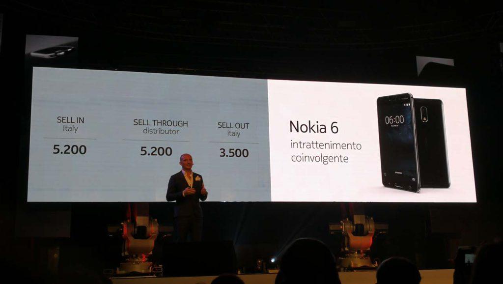 Vendite Nokia 6 in Italia