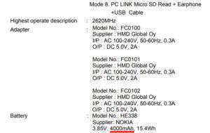 Nokia 2 - Batteria da 4000 mAh