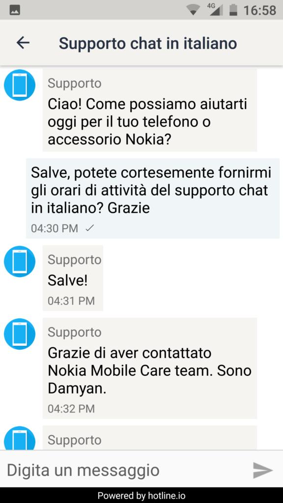 Chat di Supporto