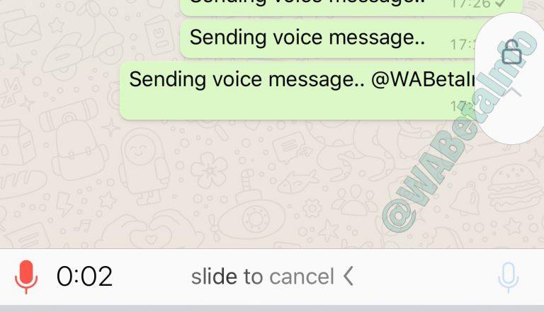 Registrazione messaggi vocali