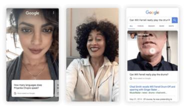Risultati Google in formato video-selfie