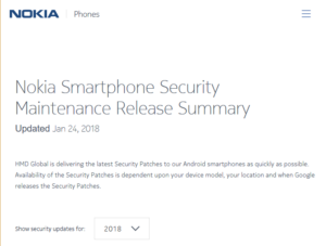 Security Updates per i device Nokia