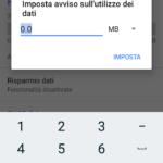 Impostazione soglia traffico dati