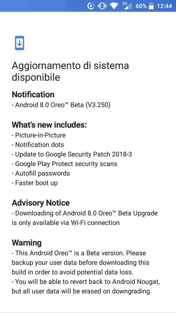 Android 8.0 Oreo v3.250
